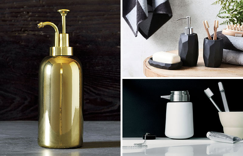 Trendy Bathroom Accessories and Stylish Soap Dispensers